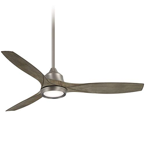 Minka-Aire F749L-BNK Skyhawk 60 Inch LED Ceiling Fan with Integrated LED Light and DC Motor in Burnished Nickel Finish