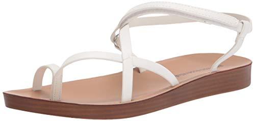 Amazon Essentials Women's Strappy Footbed Sandal Sandals, Pu Bianco, 40 EU