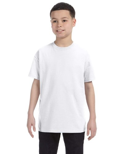 Hanes boys Cotton T-Shirt(5450)-White-M