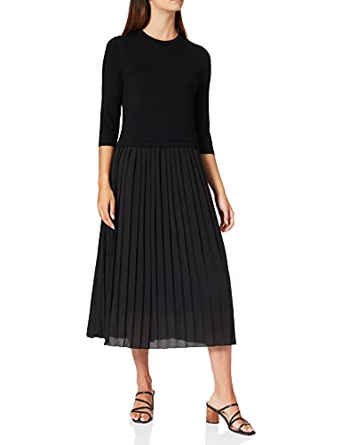 ESPRIT Collection 081EO1E322 Vestido, 001/negro, XXL para Mujer