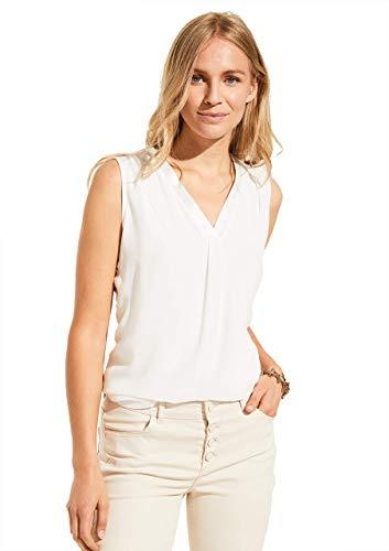 comma Damen 81.007.33.3567 T-Shirt, 0120 weiß, 32