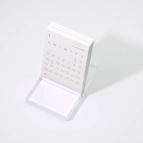 JACKAL クララ デスクカレンダー 2021 ホワイト 卓上カレンダー