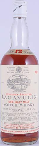 Lagavulin 12 Years Specially Selected Pure Islay Malt Scotch Whisky White Horse Distillers LTD. White Screw Cap 43,0% Vol. - großartige und seltene alte Abfüllung!