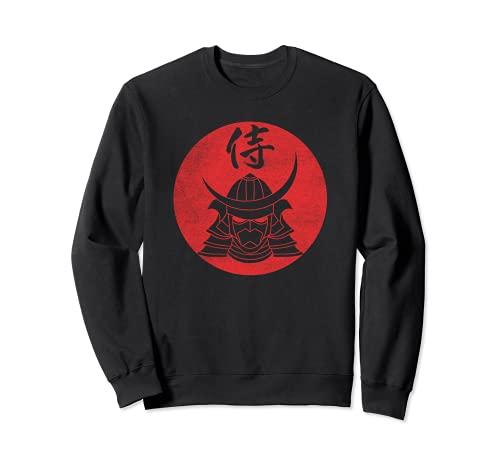 Elmo da guerriero Samurai Caratteri Kanji giapponesi - Nero Felpa