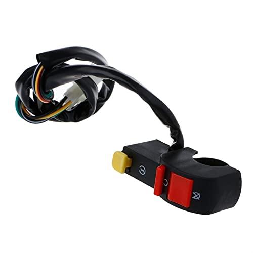 Starter eléctrico de manillar de motocicleta Stop ATV ATV FLAMEOUT Conexión 4 Conexión de cable (Color : A)