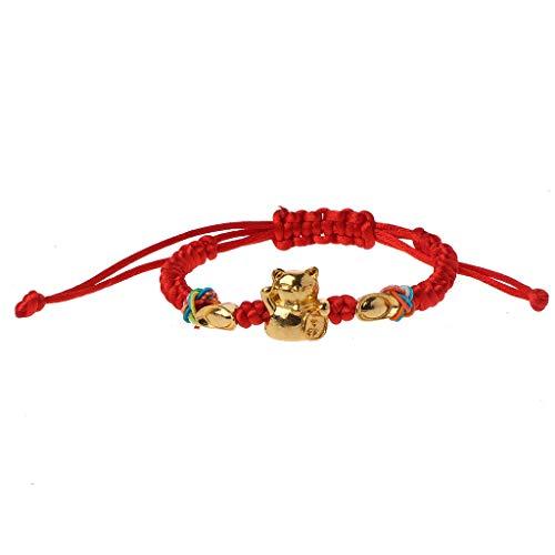 Lucky Kabbalah Red String Geflochten Golden Fortune Cat Armbänder Modeschmuck