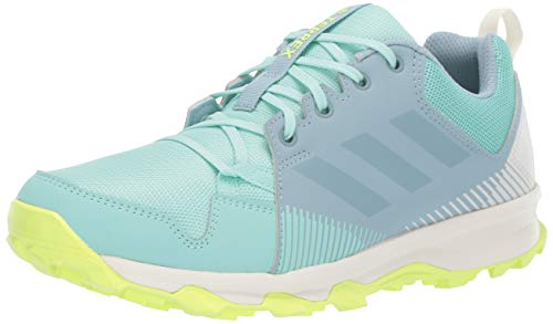 adidas outdoor Women's Terrex Tracerocker Trail Running Shoe, Clear Mint/ASH Grey/HI-RES Yellow, 8.5 M US