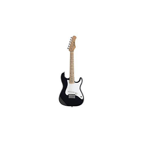 Stagg - Guitarra eléctrica infantil (tamaño 1/2), color negro