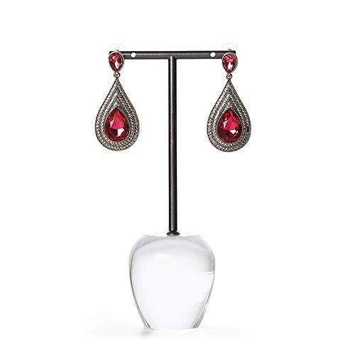 ZXL Lineary-Jewelery Sieraden Display Organizer, Acryl basis Sieradenstandaard voor oorbellen Hangers accessoires opslag en display (kleur: ronde stoel, grootte: 3 * 15cm)