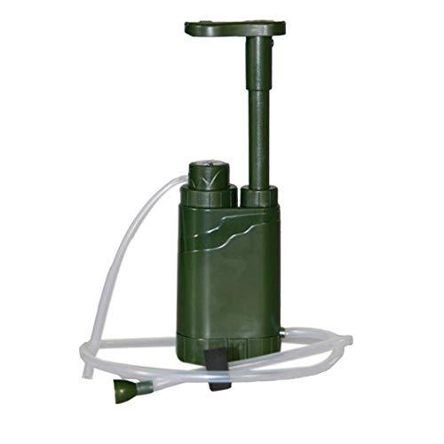 YWT Multifunktionaler persönlicher tragbarer Wasserreiniger, Notüberlebensausrüstung, schnelle Pumpe, Outdoor, Wandern, Camping, Reisen, Rucksack, Militär