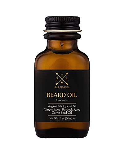 Era Organics Beard Oil: Natural, Organic, Growth, For Men. Premium USA Made Organic Beard Oil For Men Growth Formula, Extra Hydrating Sandalwood Unscented Beard Oil for Thicker, Smoother Beards and So