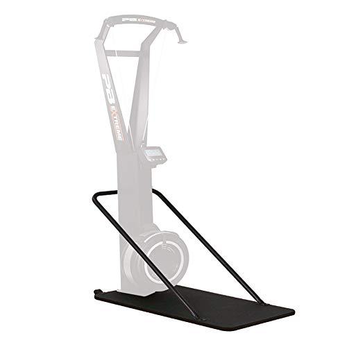 PERFORMBETTER+ Skitrainer Bodenhalterung, Zubehör Skitrainer, Innovatives Trainigsgerät für das Cardio-Workout, Ausdauertraining für zuhause, Schwarz
