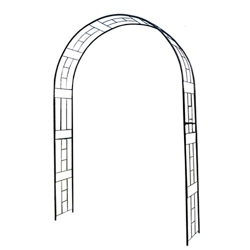 RuBao Adjustable Steel Garden Arch,Wedding Arch Stand with Bases,Easy Assembly Sturdy Garden Arch Metal,for Weddings Party Event Decoration