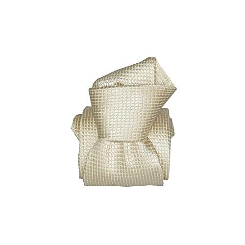 Segni et Disegni. Cravate artisanale. Confection main, Soie. Blanc, Uni. Fabriqué en Italie.