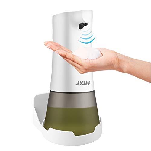 JVJH Seifenspender Automatisch 350ml, Schäumende Seifenspender mit Sensor Infrarot, Berührungslos Schaumseifenspender mit 2 Einstellbare Schaummenge für Bad & Küche