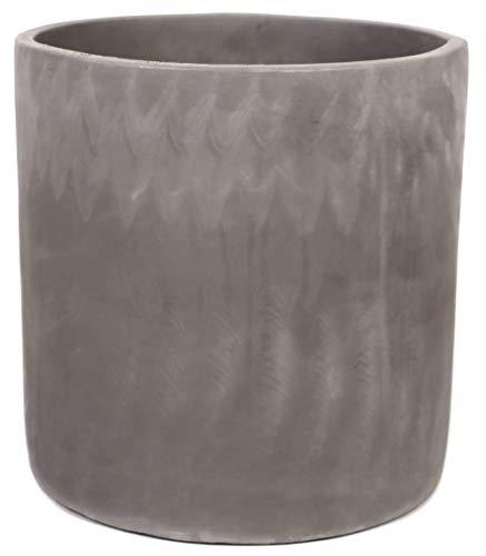 Cement Planter Pot with Drainage for Indoors – Large Concrete Planter Pot