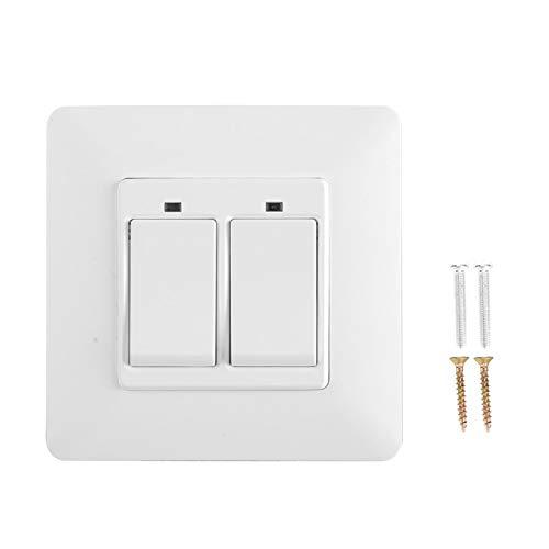Interruptor de pared con control remoto para teléfono WiFi de 100-240 V, interruptor inteligente de material ignífugo para PC, para Alexa/Google Home/IFTTT EU Plug(2 keys)
