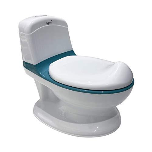 LUPPEE Töpfchen Duck, interaktives Töpfchen, Spülknopf für Spülgeräusche, herausnehmbarer Behälter, Kindertoilette, Kinderausstattung (Blue)