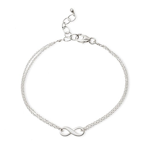 Dogeared Small Infinite Love Infinity Bracelet Oxidized Silver