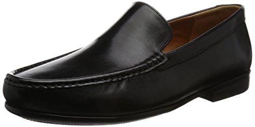 Clarks Herren Claude Plain Slipper, Schwarz (Black Leather), 43 EU
