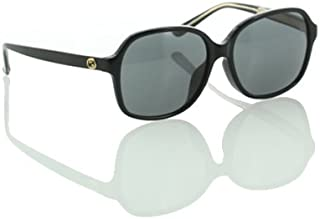 GUCCI Fashion Women Sunglasses GG 3834/F/S Asian Fit from Gucci Eyewear. Oversized Black acetate Frame & Black Lenses. Non-Polarized Eyeglasses with UV Protection and Maximum Comfort. Made in Italy. Protective case included.