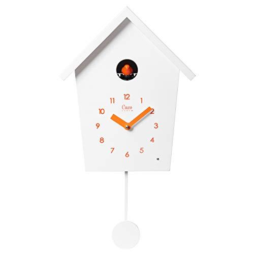 Cuco Clock Kuckucksuhr REIHENHAUS mit Pendel Wanduhr Moderne Kuckucksuhr Pendeluhr Kuckuck Chronometer