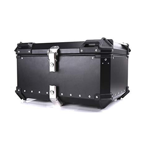 Borsa da Sella per Moto Scatola portabagagli Posteriore per Moto Custodia per Casco Custodia per Coda Baule portaoggetti in Alluminio Cassetta Porta Attrezzi Universale Impermeabile (Colore : 80L)
