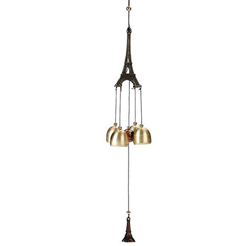 xiangshang shangmao 1pc 54cm Paris Tour Eiffel Ornement Carillon éolien avec Bells Souvenir Cadeau