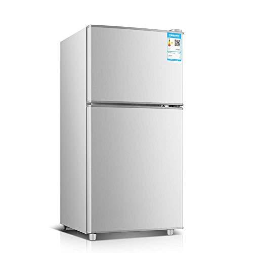 Mini Nevera Refrigeradores compactos de Doble Puerta 58L, refrigerados