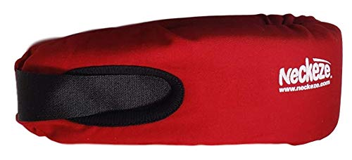 True Choice Stores - Neckeze Cervical Compact Travel Breathable On The Go Pillow and Neck Support Brace (Red, Medium)