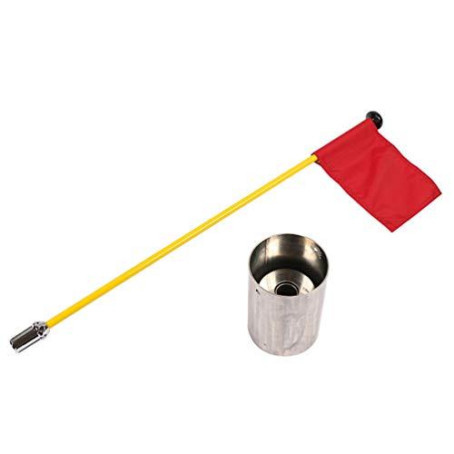 BESPORTBLE 3 Stück Golf Flagstick Cup Set Professionelle Golf Training Flagge mit Edelstahl Loch Cup Praxis Golf Putting Green Fahnenmasten Zufällige Farbe