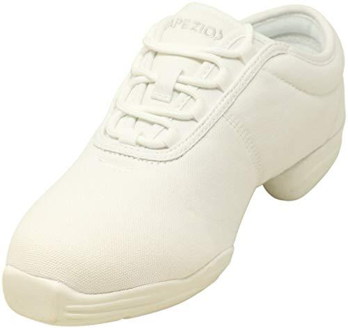 Capezio Unisex-Erwachsene Canvas Dance Sneaker Schuhe, Weiß (weiß), 36 EU
