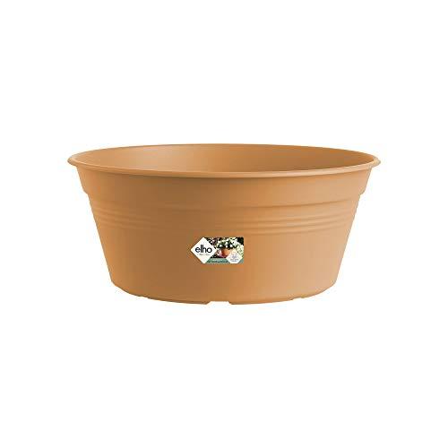Elho Green Basics Coupe 33 - Pot De Fleurs - Terre Cuite Doux - Extérieur - Ø 33 x H 13.9 cm