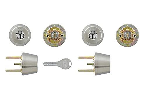 GOAL ゴール TX用 V18 交換シリンダー シルバー 2個同一 テールピース刻印 34