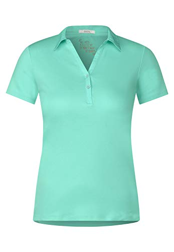 Cecil Damen Polo-Shirt in Unifarbe Light Molecule Mint Green XL
