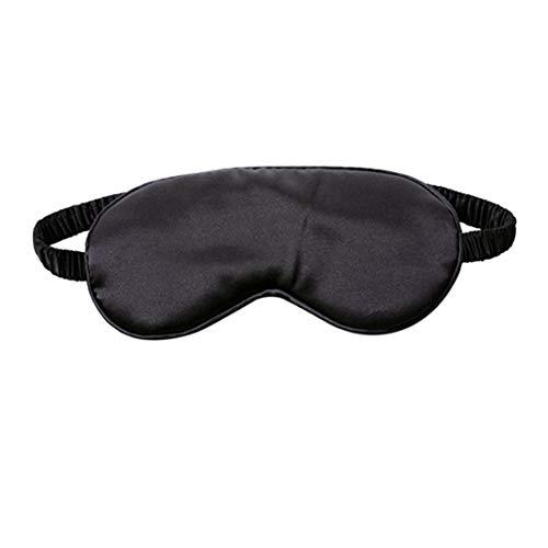 Lichtbeschermende Bril, Zijden Slaapmasker 1 Zwart