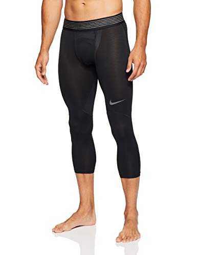 Nike Herren 3/4 Trainings-Tights Pro Hypercool, Black/Black/Dark Grey, XL, 888297-011