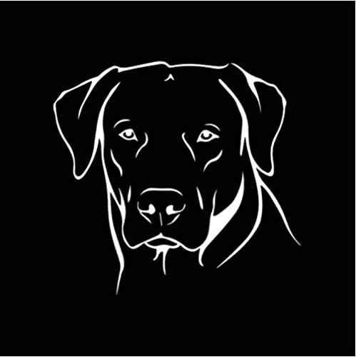 Bhysfenhgttvv 3 Piezas Pegatina de Coche 15,3X14,5 CM Animal Lindo Cachorro Perro Vinilo calcomanía Pegatina de Coche Negro