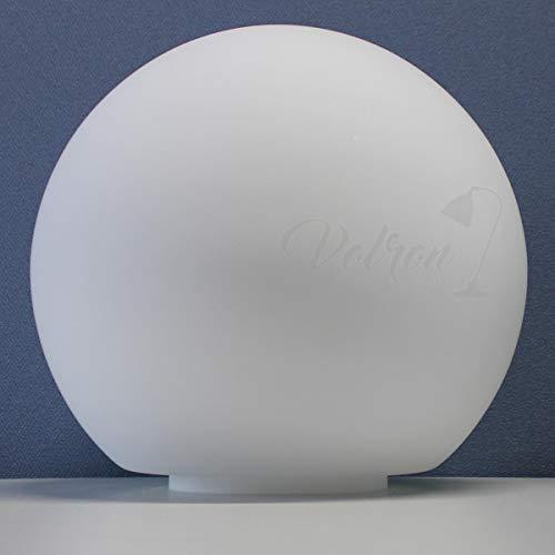 Kugel Opal Ersatzglas Lampenschirm Leuchtenschirm matt Ø250mm mit Schulter und Ring Ø110mm H10mm (Mönchkappe)