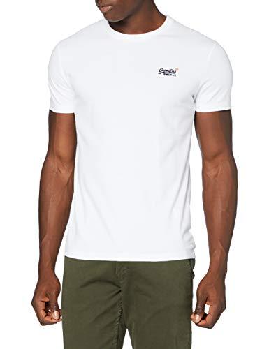 Superdry OL Vintage Emb tee NS Camiseta, Óptico, L para Hombre
