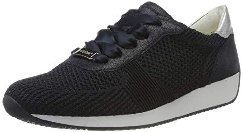 ara Damen LISSABON Sneaker, Blau, Silber 47), 43 EU(9 UK)