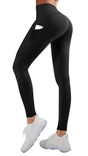 TNNZEET High Waist Leggings Yoga Pants with Pockets Tummy Control 4 Way Stretch Sports Ankle Leggings