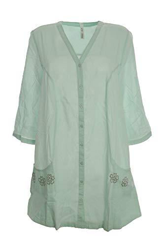Sheego Longbluse Bluse Tunika Damen Lagenlook Plusgröße , Farbe:mintgrün;Damengrößen:40