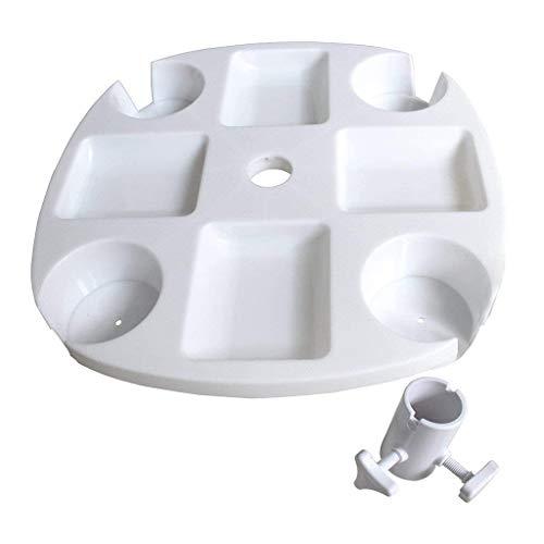 Boji Sonnenschirm Tisch Tablett Mit Geträ Snack Cups Für Garten Schwimmbad Sonnenschirm Tisch Halter Regenschirm Bier Getränkehalter