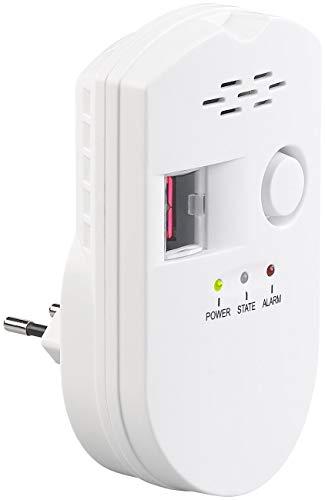 VisorTech Erdgasmelder: Steckdosen-Multi-Gasmelder für Erdgas und Autogas, 85 dB (Gasdetektor)