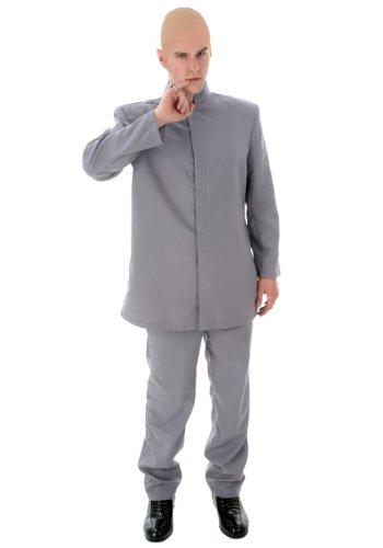 Men's Plus Size Evil Man Grey Suit Costume - 2X
