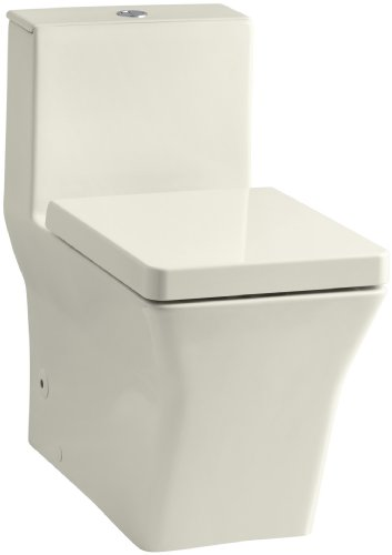 Kohler K-3797-96 Rêve Elongated One-Piece Toilet with Dual Flush Technology, Biscuit