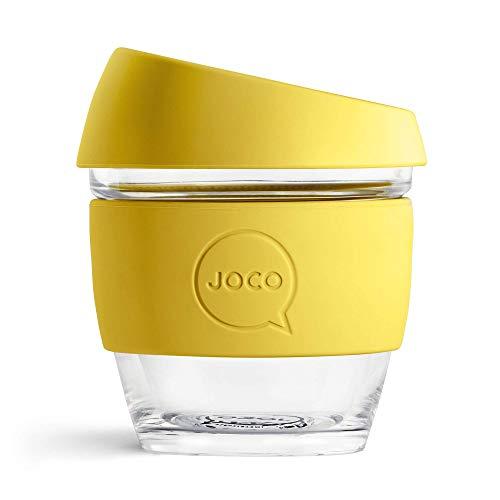 JOCO 8oz Glass Reusable Coffee Cup (Meadowlark)