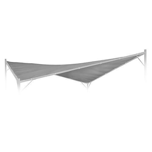 blumfeldt Sombra Pergola Techo de Recambio – Superficie de 4 x 4 m, Lona de poliéster de 180 g/cm², Concepto FlexMood, Gris