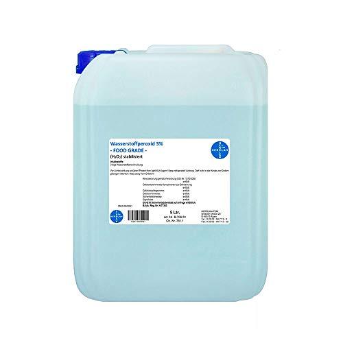Wasserstoffperoxid 3% FOOD GRADE I 5 Liter I stabilisiert I Kanister I Pharmazentralnummer-16569647 I Herrlan Qualität I Made in Germany I HERRLAN ANTWORTET AUF AUSNUTZUNG DER SITUATION